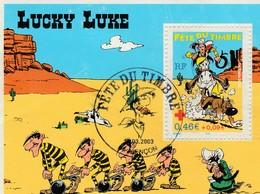 LUCKY LUKE  Fete Du Timbre  2003  1ALENCON - FDC