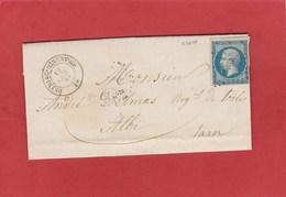 Aude - Peyriac Minervois - PC 2424 Sur N°14 - LAC D'octobre 1861 - 1849-1876: Classic Period