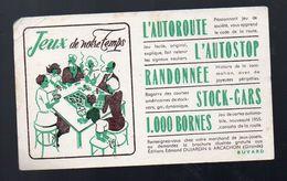 (jeux) BUVARD Jeux De Notre Temps  (PPP8095) - Löschblätter, Heftumschläge