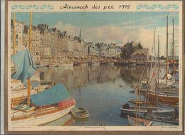 Calendrier Grand Format , Almanach Des P.T.T. ,1972, Honfleur, Le Vieux Port, 2 Scans, Frais Fr 1.95 E - Calendari