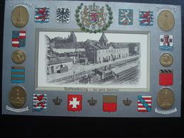 BETTEMBOURG : La Gare (perron) En Relief - Bettembourg