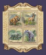 MOZAMBIQUE 2018 MNH** Extinct Species Ausgestorbene Tiere Especes Disparues M/S - OFFICIAL ISSUE - DH1812 - Stamps