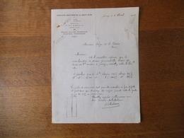JUVISY R. CEDRON CONSTRUCTEUR CHANTIERS MARITIMES DE LA HAUTE SEINE 41 RUE GAMBETTA COURRIER DU 8 AVRIL 1926 - France