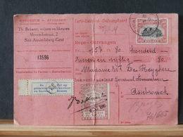 76/665  CP RECEPISSE DE GAND POUR BRUGES  1921 - België
