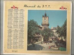Calendrier Grand Format , Almanach Des P.T.T. ,1961, AIX , TARASCON, 2 Scans, Frais Fr 2.85 E - Calendari