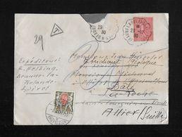 1930 Lettre Beaune-la-Rolande à Suisse ►trop Peu D'affranchissement◄ - Lettres & Documents