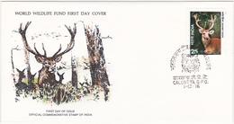 1976 / Lot De 2 Enveloppes 1er Jour Du Fonds Mondial Pour La Nature / FDC / INDE - FDC