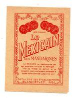 Etiquette Miniature  Albi Blanchet Le Mexicain Mandarines - Etiquettes