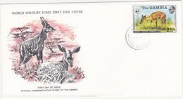 1976 / Lot De 4 Enveloppes 1er Jour Du Fonds Mondial Pour La Nature / FDC / GAMBIE / GAMBIA - Gambie (1965-...)