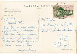 Spain  & Marcofilia, Vista Parcial De Vigo Desde Moana, Porto Portugal 1963 (9508) - 1961-70 Briefe U. Dokumente