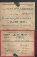 FACTURE SUR EMA DE 1932 JULES BLANC LE PAYSAN À AVIGNON : - Marcophilie (Lettres)