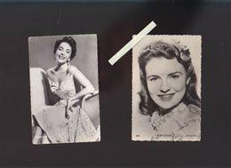 Artistes - Cinéma - Lot De 2 CP - Warner Bros - Joan Leslie, élisabeth Taylor - Artisti