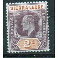 Sierra Leone Edward VII 2d Stamp.  This Stamp Was Issued In 1904 And Is In Mounted Mint  Condition. - Sierra Leone (...-1960)