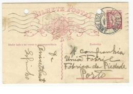 Postal Stationery * Portugal * 1935 * Ambulancias Norte III * Registered * Holed - Maschinenstempel (Werbestempel)