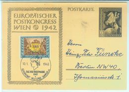 """Nr. 828 FDC Postkarte """"Europäischer Postkongreß"""" - Allemagne"""