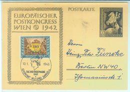 "Nr. 828 FDC Postkarte ""Europäischer Postkongreß"" - Briefe U. Dokumente"