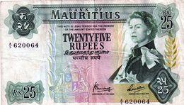 Billets De L'ile Mauris (25 Rupees) - Mauritius