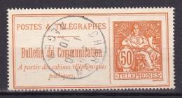 Timbre Téléphone N°27 (50c.)  Obl D'Algérie  CHARON - Telegraph And Telephone