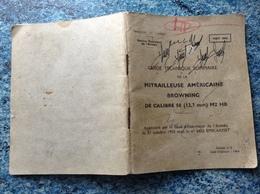 MANUEL MITRAILLEUSE AMERICAINE BROWNING CALIBRE 50 M2 1964 Edition N°2 Voir Photos - Armes Neutralisées