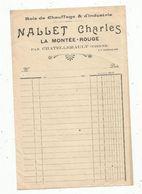 Facture , Vierge , Bois De Chauffage , Mallet Charles , 86 ,Vienne , Chatellerault, Frais Fr 1.55 E - Agriculture