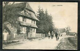CPA - HECKEN - Une Rue, Animé - France