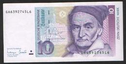 ГЕРМАНИЯ ФРГ  10  МАРОК  1991 - [ 7] 1949-… : FRG - Fed. Rep. Of Germany
