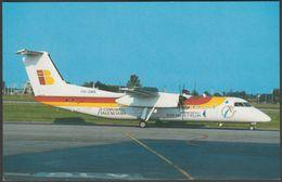 Denim Air De Havilland DHC-8-315 Dash 8Q At Turin - Bucher & Co Postcard - 1946-....: Modern Era