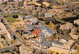 14-HEROUVILLE-SAINT-CLAIR- VUE AERIENNE DU CENTRE VILLE L'HÔTEL DE VILLE ET LE THEATRE - Herouville Saint Clair