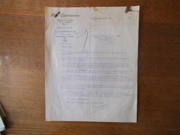 ARGENTON SUR CREUSE C. DUSSOUR A LA PARISIENNE BONNETERIE 38 PLACE DE L'EGLISE COURRIER DU 15 JANVIER 1931 TIMBRE CACHET - France