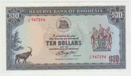 Rhodesia 10 Dollars 1979 Pick 41 AUNC - Rhodésie