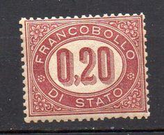 1875 - Serie Servizio Nuova N. 3  MLH* - Servizi