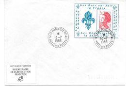 Bi-centenaire De La Révolution Porte Timbre 14/07/1989 - Marcophilie (Lettres)