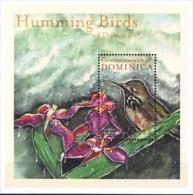 MDB-BK4-473 MINT ¤ DOMINICA 2001 BLOCK ¤ KOLIBRIES  - OISEAUX - BIRDS - PAJAROS - VOGELS - VÖGEL - - Hummingbirds