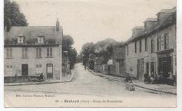 60.. BRETEUIL  ROUTE DE MONTDIDIER+CAFE VINS EAUX DE VIE LIQUEURS    TBE  M883 - Breteuil