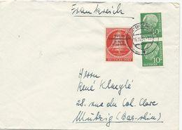 LETTRE 1954 POUR LA FRANCE AVEC 3 TIMBRES - [7] République Fédérale