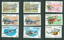 Vietnam 1986/88 Airplanes, Avions, Vliegtuigen   Obl. -  Gebr. - Used - Viêt-Nam