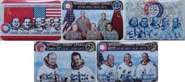 287 Space Russian Badge Button Pins Set. Soyuz-Apollo (5psc) - Space