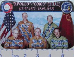 287-2 Space Russian Badge Button Pin Soyuz-Apollo - Space