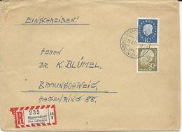 LETTRE RECOMMANDEE 1961 AVEC CACHET HOIERSDORF ÜBER SCHÖNINGEN - [7] Federal Republic