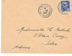 Convoyeur Reims à Chalons Sur Marne 1953 - Marcophilie (Lettres)