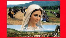 BOSNIA ERZEGOVINA - Cartolina Viaggiata Nel 2013 - Medugorje - Pellegrini - Madonna - Bosnia Erzegovina