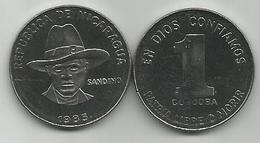 Nicaragua 1 Cordoba 1985. UNC KM#43a SANDINO - Nicaragua