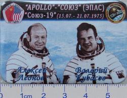 287-4 Space Russian Badge Button Pin Soyuz-Apollo - Space