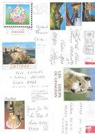 Lot De 50 Belles Lettres Avec Beaux Décors Plus Fammes - Marcophilie (Lettres)