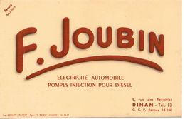22 - DINAN - BUVARD F. JOUBIN  électricité Automobile  8 , Rue Des Rouairies Dinan - Automotive