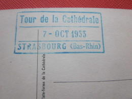 Strasbourg CPSM Carte Postale Europe  France [67] Bas Rhin Cachet Au Verso Tour De La Cathédrale  7 Oct 1933 - Strasbourg