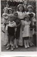 83Gt  Photo Originale 57 Basse Yutz Enfants Familles Muller Sadler Wurtz Dietrich Wirth En 1951 - Francia