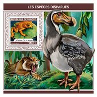 DJIBOUTI 2018 - Extinct Species S/S. Official Issue - Prehistorisch