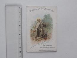 CHROMO AIGUEBELLE Série Scènes De La Vie Monastique: Saint-CALAIS Ou KARILEF Découvre Un Trésor - Religieux Religion - Aiguebelle
