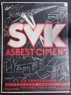 VERS 1930 RARE ** AFFICHE - DISPLAY Publicité VENTE PRODUITS ! ASBEST ! - S.V.K. à St NICOLAS - SINT NIKLAAS WAAS - Affiches